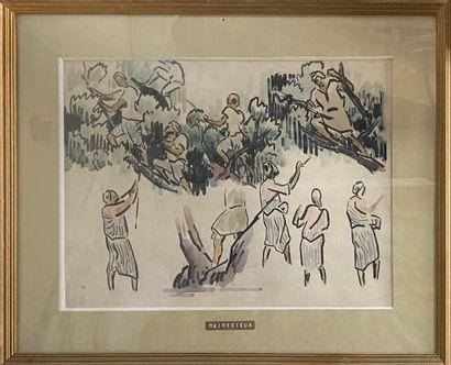 MAINSSIEUX Lucien, 1885-1958  Étude d'orientaux...
