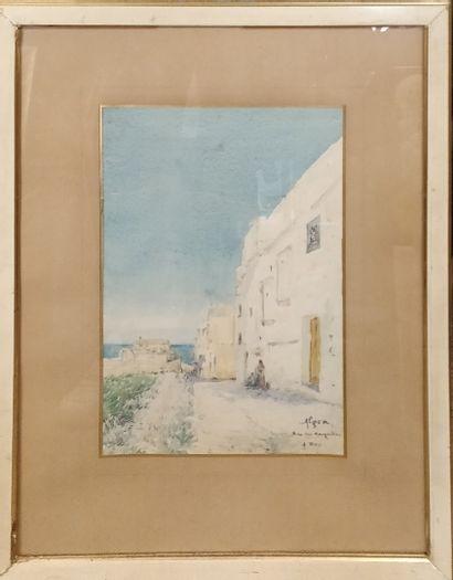 REY Alphonse (1865-1938)  Alger, rue des...