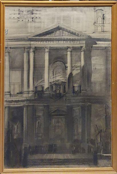 AUSSEL J (XXème)  Etude de facades - Vues...