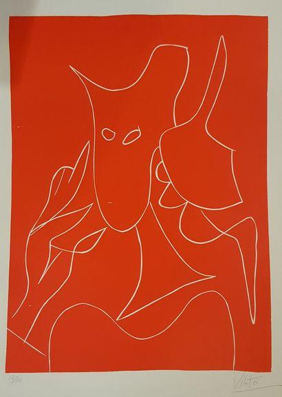 VILATO Javier (1921-2000)  Rouge  Lithographie...