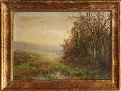 ANGLADE J.M.G., XIX-XX,  Bocage à l'automne,...