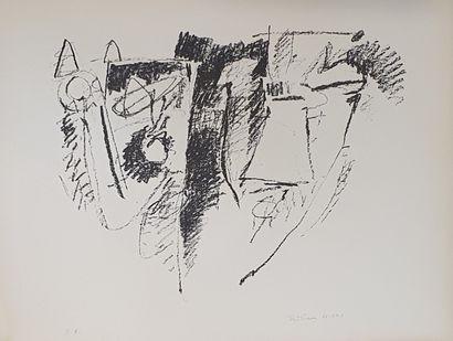 BITRAN Albert (1929-2018)  Compositions, 62-64  Suite de 5 lithographies, chaque...