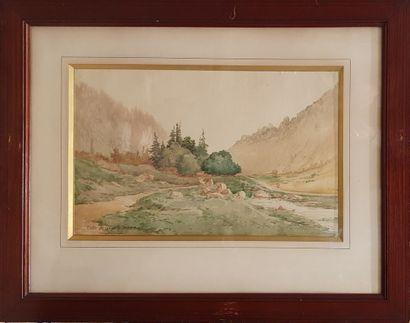 LESSIEUX Louis Ernest (1848-1925)  Vallée...