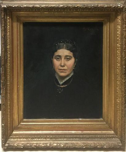 KRABANSKY Gustave, né en 1852,  Portrait...