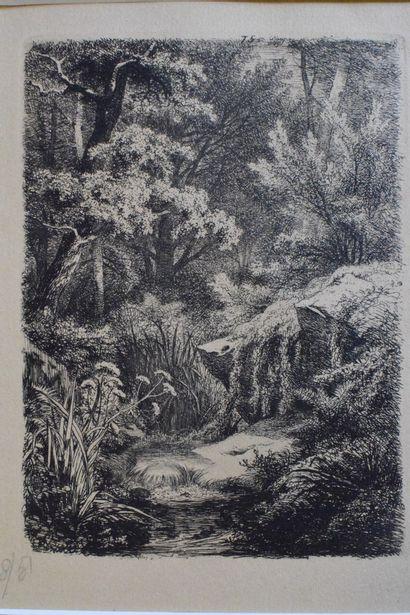 BLERY Eugène (1805-1887)  Le ruisseau, 1849...
