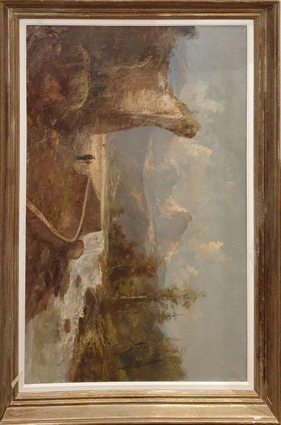 GODCHAUX, XIXe siècle-XXe siècle,  Paysage...