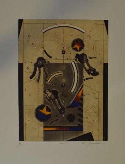 ASSADOUR (1943-)    petrifications, 1988  Lithographie signée, datée dans la planche....