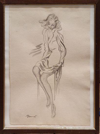 BRENOT Pierre Laurent (1913-1998)  Pin up...