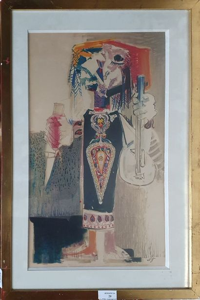 LORJOU Bernard (1908-1986)  Oriental,  Lithographie...