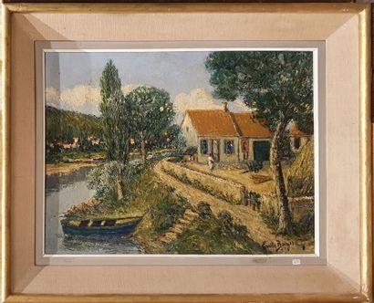 BREYSSE Emile (1880-1965)  Ferme au bord...