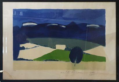 CATHELIN Bernard (1919-2004)  Ferme du Vercors,...