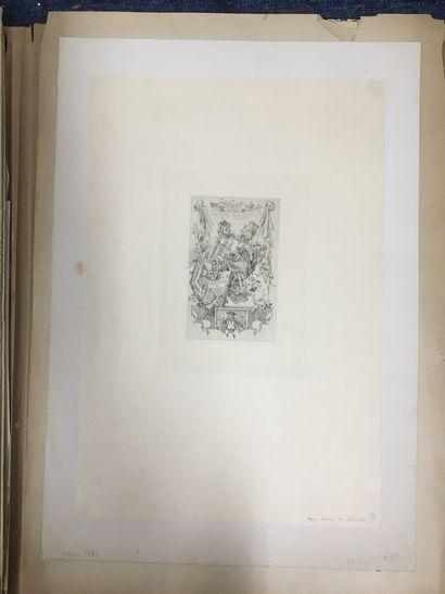 ROPS Félicien, 1833-1898,  Œuvres badines,vernis...