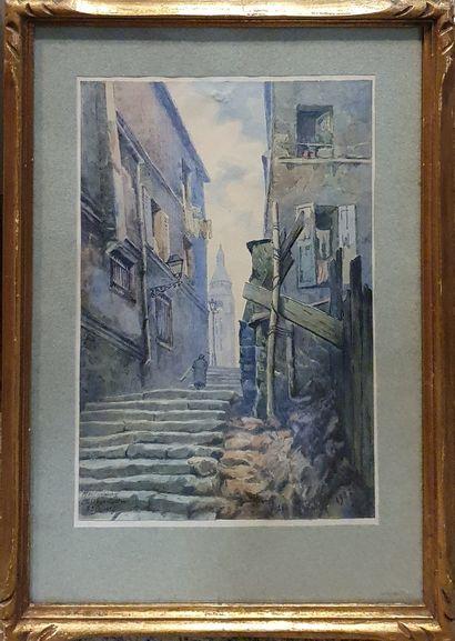 MAUNIER Victor (XX)  Passage Cottin, Montmartre,...