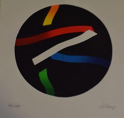DORNY Bertrand (1931-2015)  Composition circulaire,...