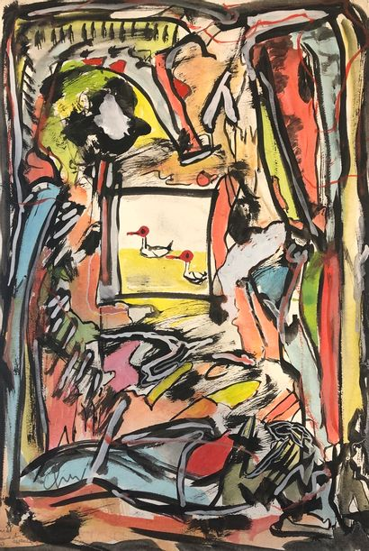 CHENU Didier (né en 1956)    Lot de 6 oeuvres...