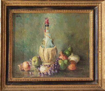 DE RASKY Marie Madeleine (1897-1982)  Bouteille,...