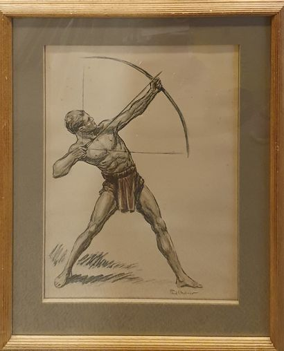 ORDNER Paul (1900-1969)  Archers  3 lithographies...