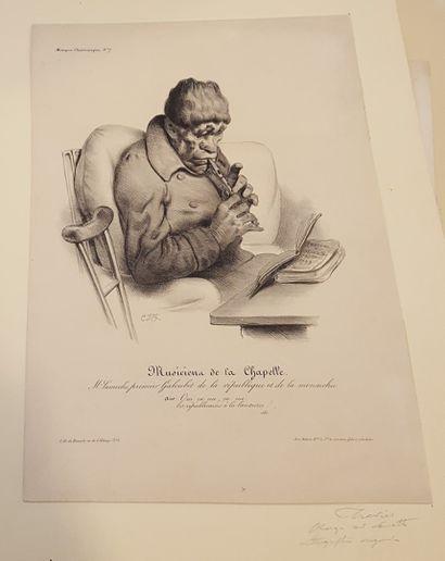 TRAVIES Edouard (1809-1869)  Musiciens de...