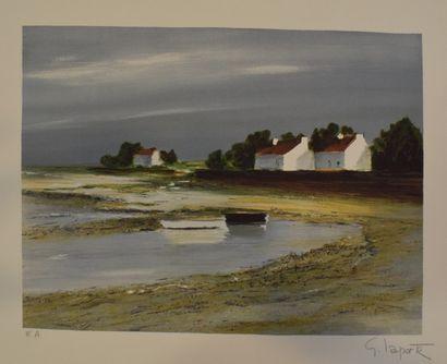 LAPORTE Georges (1926-2000)    Paysage breton,...