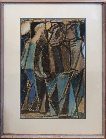 LOEWER Claude (1917-2006) 1/2  Dockers, 1953...