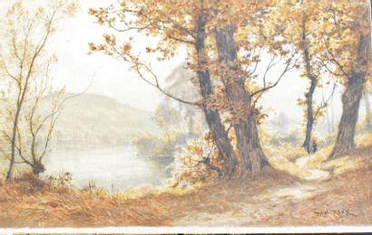 ROUX Paul (1845-1918)  Paysage de campagne,...