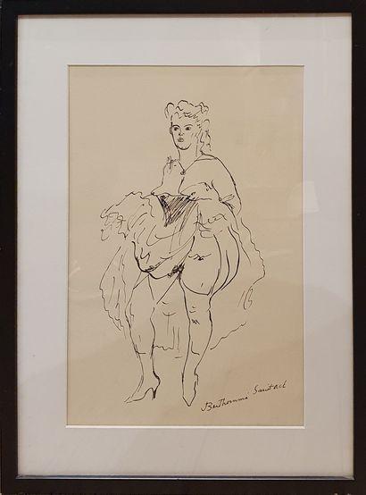 BERTHOME SAINT-ANDRE Louis (1905-1977)  Danseuse...