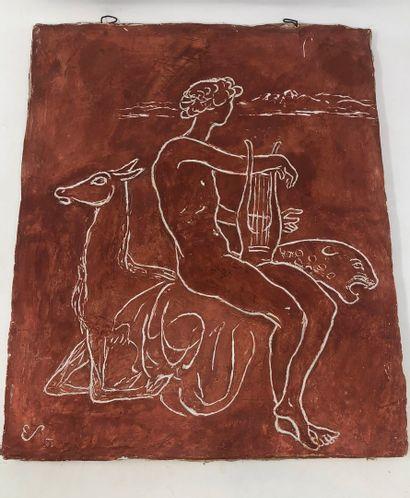STOERR Edmond (1903-1956)  Homme tenant une...