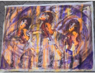 HRASARKOS (né en 1975)  Trois femmes au violon...