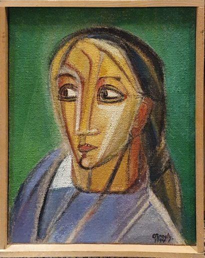 BROGLY Colette, XXe siècle  Buste de femme...
