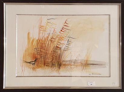 JOUENNE Michel (1933-2021)  Paysage à la...