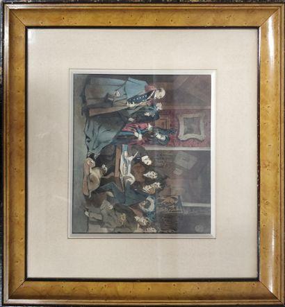 MONNIER Henry, 1805-1877,  La lecture du...