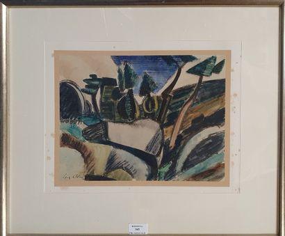 ALIX Yves, 1890-1969,  Paysage aux arbres,...