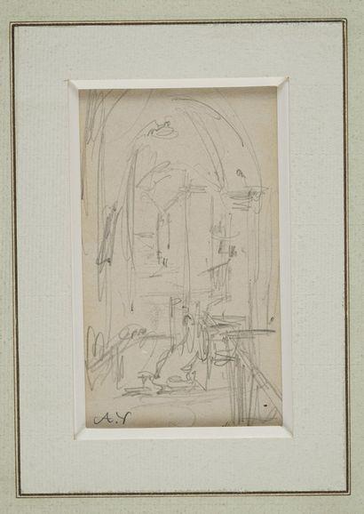 VOLLON Antoine, 1833-1900  Chaire à l'église...