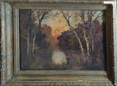 ECOLE FRANCAISE XIXème siècle  Sous bois...