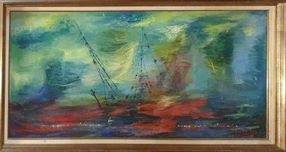 DELLA SELVA Pino (1904-1987)  L'épave rouge,...