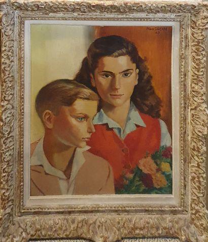 DECAM Marc (1908-2002)  Portrait d'Henriette...