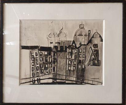 CHARPENTIER (1929-...)  Vue de Rome, 1929...