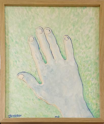 LIETARD Meix, né en 1944  La main retraitée,...