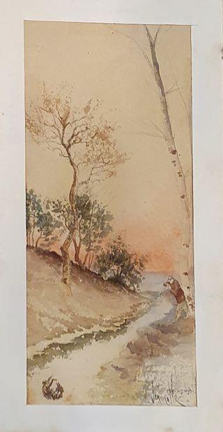 JEANNOLLE H (XIX-XXème)    Vue de rivière...