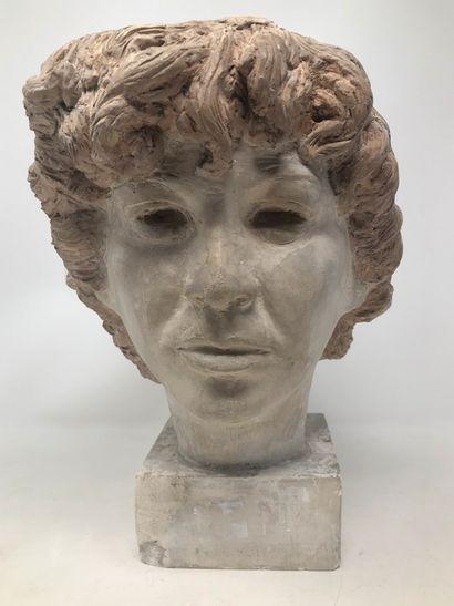 STOERR Edouard (XX) attribué à  Tête de femme...