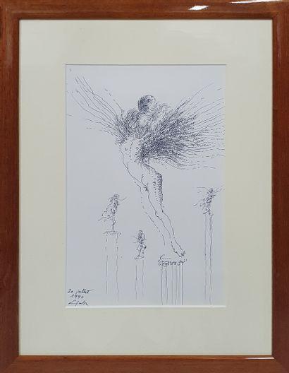 LJUBA (1934-2016)  Femme sur un piédestal,...