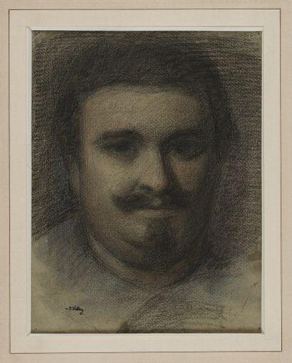 VOLLON Antoine, 1833-1900  Portrait d'homme...