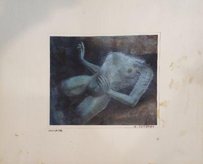 SOTERAS Georges (1917-1990)  Femme nue allongée,...