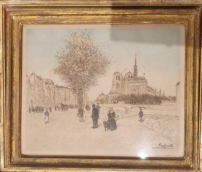 RAFFAELLI Jean-François, 1850-1924,  Promeneurs...