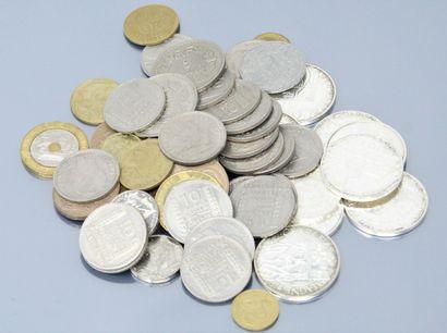 Ensemble de pièces en argent :  - 5 euros...