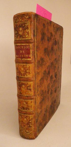 ROUSSEAU (Jean-Jacques). Dictionnaire de...