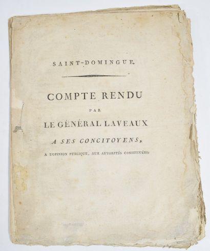 LAVEAUX (Étienne, général). Saint-Domingue....
