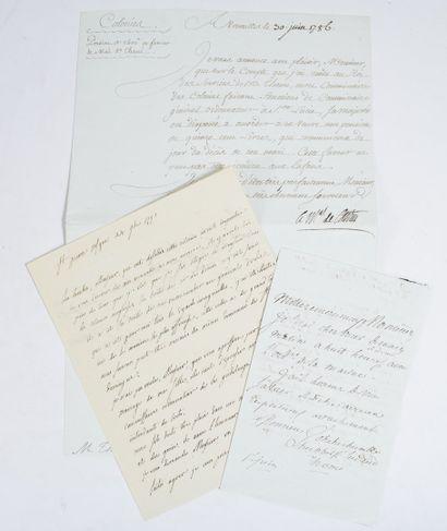 MARTINIQUE. — Ensemble 3 lettres signées...