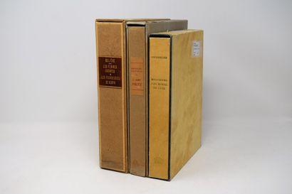 [DIVERS]  Ensemble de 3 volumes :    ERCKMANN...