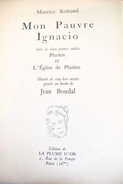 ROSTAND Maurice (1891-1968)  Mon pauvre Ignacio....